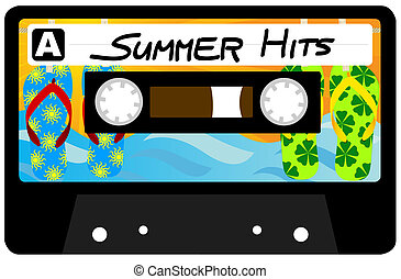 Summer Hits Tape - Summer Hits - Retro Audio Cassette Tape...