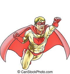 Superhero Comicbook Style Illustration - Illustration of...