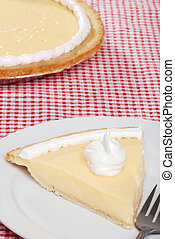 top view banana cream pie - closeup top view banana cream...