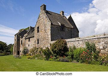 Aberdour Castle and Gardens, Fife - Aberdour Castle in Fife...