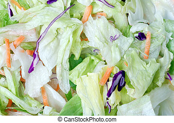 Tossed salad background - macro Tossed salad background