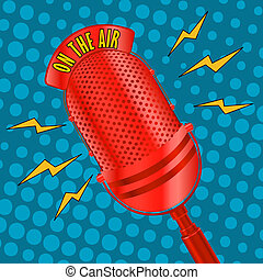 Pop art microphone - Pop art radio microphone