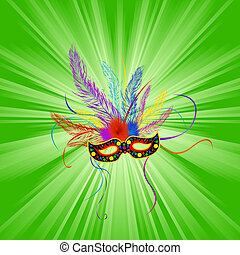 Mardi gras background - Festive Mardi Gras mask, abstract...