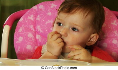 eating little baby part 1 - little baby eating with his...