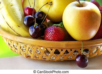 Fruits on basket