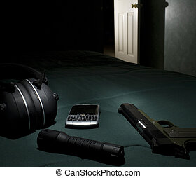 Ready for the burglar - Handgun and self-defense get on a...