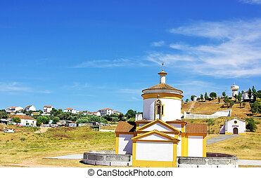 Church at Monforte, Portugal.