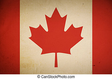 Grunge Canadian Flag - Grunge background of the Canadian...