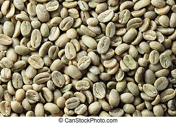 green coffee bean background - Ethiopian organic Yirga...