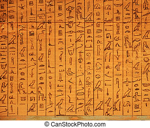 hieroglyphic panel - ancient Egyptian hieroglyphic panel...