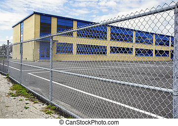 Gated school playground - Increasing security of an old...