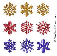 Miscellaneous snowflakes - Miscellaneous glitter snowflakes...