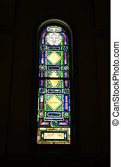 Stained Glass 2 - Picture of a stained glass window in a...