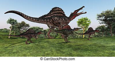Spinosaurus, madre