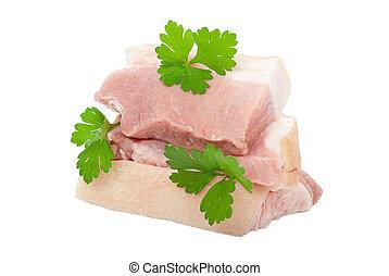 Raw pork with parsley