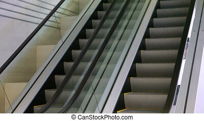 Two escalators - Two modern escalators in movement