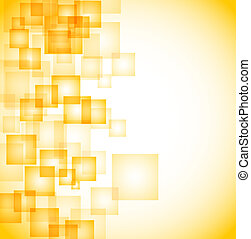 abstract yellow squares background