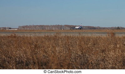 Takeoff Aeroflot - CHELYABINSK u2013 NOVEMBER 19: Airplane...