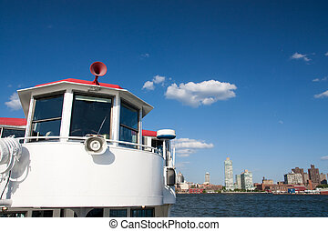 Cruise tour - Manhattan city viewed from a cruise boat
