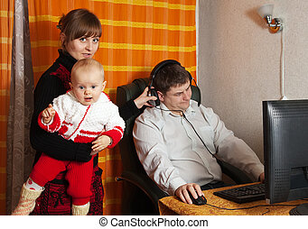 Incomprehension between man and his family - Man works at...