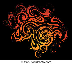 Tribal art - Decorative abstraction with artistic tribal art...