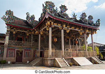 A great grand majestic clan temple - Front view of a...