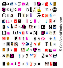 Cut and torn out font - Different kinds of cut and torn out...