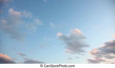 Time lapse clouds - Wide angle time lapse clouds at evening,...