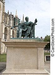Emperor Constantine Statue - A Bronze Statue of Roman...