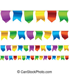 Bunting flags - Seamless horizontally vector illustration of...