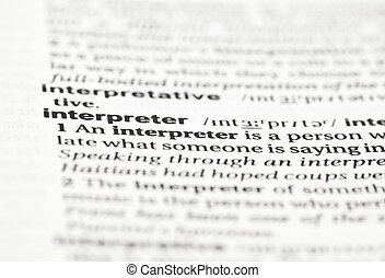 Interpreter - Entry for interpreter in an English dictionary...