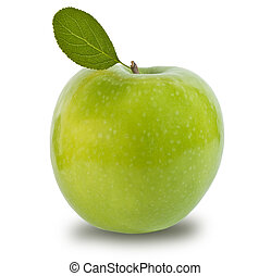 Green apple isolated