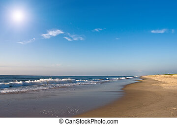 Sunrise, Atlantic ocean - Beach, Atlantic ocean coast, MD,...