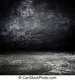 old grunge scary room with concrete texture