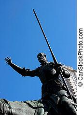 Miguel de Cervantes monument - Fragment of Miguel de...