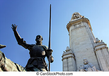 Miguel de Cervantes monument - Fragment of Miguel de...