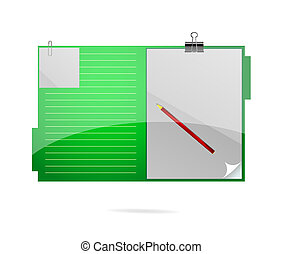 office folder symbol green color
