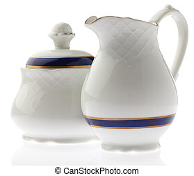 tea pot - ceramic tea pot on white background