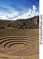 Moray Circles - Moray, Peru; a mystic Incan place for...