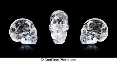Crystal skulls - Traditional Central American quartz crystal...
