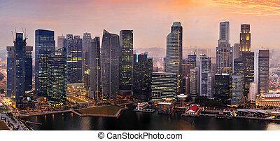 Coucher soleil, singapour