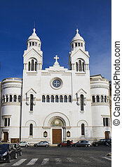 Valdese Evangelical church at Piazza Cavour. Rome, Italy