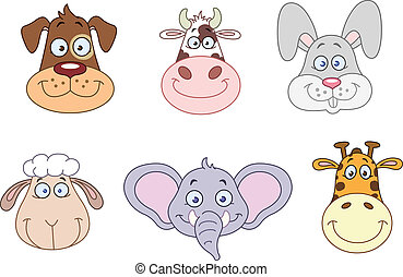 Animal heads 2 - Cartoon animal head collection