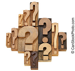 question mark abstract - decision making or brainstorming...