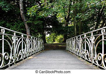 Antique bridge in park