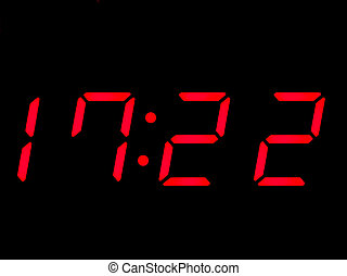 digital clock, red, alarmclock