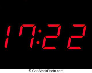 digital clock, red, alarmclock