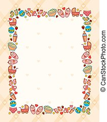 background with baby icons - beautiful background with baby...