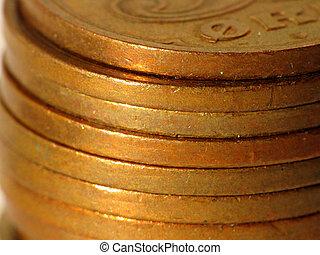 Money stack of danish money