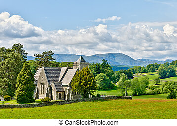 Victorian church in rural setting - St Peter's Church, Far...